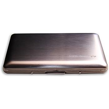 RFID Datendiebstahl EC-Karten 2x WPRO Karten Etui Monica Kreditkarten Schutz Metall Schutzh/ülle Visitenkartenetui
