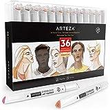Arteza EverBlend marqueurs artistiques à double embout, jeu de 36 marqueurs de couleurs pour adultes et artistes