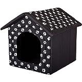 Hobbydog Hundhus, storlek 3, svart med tassar