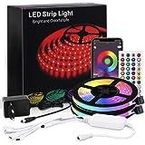 MMcRRx RGB Ruban Led 20m, RGB LED Light Chain avec télécommande d'application mobile et télécommande infrarouge, couleur DIMM