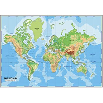 Buy world map poster peel and stick wallpaper in different sizes 48 world map wall posters ship routes major cities water bodies world map wallpaper for office school and educational purposes non tearable washable gumiabroncs Image collections