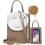 HAWILL Handy Umhängetasche Damen Touchscreen Handytasche zum Uumhängen Kleine Schultertasche Leder Crossbody Geldbörse Phone