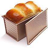 CHEFMADE Moule à pain avec couvercle, moule à pain antiadhésif ustensiles de cuisson moule à pain en acier au carbone durable