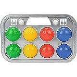 Simba 107401391 - Boccia spel draagmand, 8 ballen, 7 x 8 cm, 2 doelballen