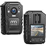 1296P HD Police Body Camera,128G Memory,CammPro Premium Portable Body Camera,Waterproof Body-Worn Camera with 2 Inch Display,