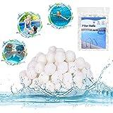 Balles Filtrantes, Boules de Filtre de Piscine 500g, Boule filtrante Lavable et réutilisable, Alternative pour Sable Filtrant