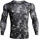 iCKER Base Layer Top Heren & Jongen Wicking Quick Dry Lichtgewicht Sport Compressie Tee Lange Mouwen Shirt voor Fietsen Skiën