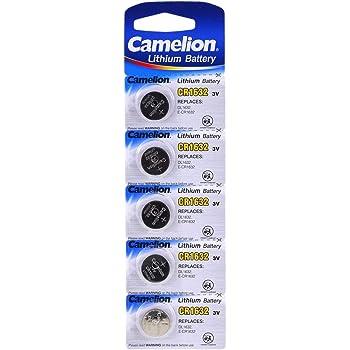 Pila de botón de Litio Camelion CR1632 Blister 5uds., 3V, Lithium