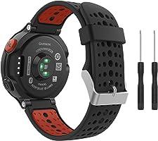 Correa de reloj de silicona suave para Garmin Forerunner 235 de Fit-power, repuesto ideal para Garmin Forerunner 235,...