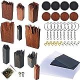 Woohome 51 Pz Stampo Silicon di Legno di Sandal e Ebano, 10 Pz Broken Wooden Resin Stampi Resin per DIY Resina di Legno Paesa