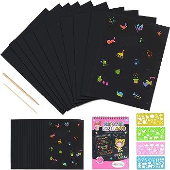 Purple Ladybug Novelty Kratzbilder Set Für Kinder 36 Große Blätter