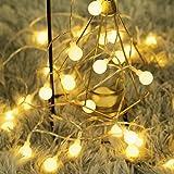 40 LED 16ft Cadena Luces, luz blanca cálida, Fulighture Decorativas Guirnaldas Luminosas para Exterior,Interior, Jardines, Ca