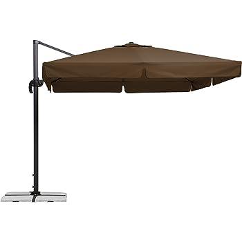 Schneider Sonnenschirm Rhodos Mocca 300x300 Cm Quadratisch
