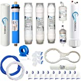 Hydroshell complete Ro purifier filter service kit of 80 GPD membrane water with all accessories (1 Year Full service kit)