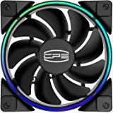 CP3 Ventilateurs de boîtier Ventilateurs de refroidissement PC RGB adressables 120mm Ventilateurs silencieux à double boucle