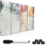 Navaris Memo Board Lavagna Magnetica 40x60cm - Lavagnetta Scrivibile Cancellabile con 1x Pennarello e 5X Calamite - Bacheca D