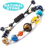 KILUJAPA Bracelet for Women Men Gift, Natural Stone Planet Stress Relief Chakra Yoga, Aromatherapy Essential Oil