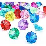 HICARER Gemme di Diamanti Acrilici Gioielli Gemme Pirata Set Gioielli Tesoro Scriccato Festa Caccia Favori, 25 Carati Multico