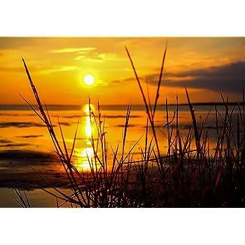 S-848 XXL Poster 100 x 70cm Blick aufs ruhige Meer beim Sonnenuntergang