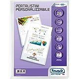 Favorit 100460325 - Portalistino Personalizzabile 20 Buste, 22 x 30 cm, Trasparente
