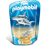 Playmobil Family Fun Hammerhead Shark with Baby, Multi-Colour, 9065