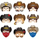 Western Party Decoration Supplies Western Masks Western Cowboy Masks Halloween Masks for Western Themed Party Costumes Photo