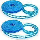 KongJies Lot de 2 Cordes à Linge Coupe-Vent en Plastique Antidérapantes pour La Maison, Multicolore