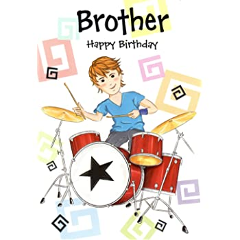 Drums On Stage Happy Birthday Card Amazon Office Products