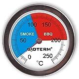 Browin 101200 thermometer voor BBQ/rookoven, roestvrij staal, 0 °C + 250 °C, 70 mm