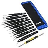 pincettes plates//pointes//courbes outils de r/éparation /électroniques CuiGuoPing Lot de 3 pincettes antistatiques en plastique pour ordinateur portable