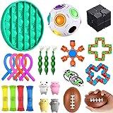 YAOJIN Zestaw zabawek antystresowych, 23 sztuki, zestaw zabawek do redukcji stresu i przeciwstrachu, dla dzieci i dorosłych,