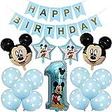 Decoraciones de cumpleaños de Mickey Mouse, BESTZY Globos número para la Fiesta Temática de Mickey Mouse Artículos de Fiesta