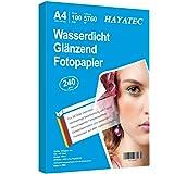 Fotopapier op A4-formaat, hoogglanzend, 240 g/m², fotopapier, direct droog, waterbestendig, helder wit, 100 vellen