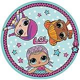 Cerdá 8427934274765 Toalla Redonda LOL, Multicolor, 130 X 130 CM, 4