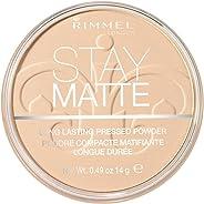 Rimmel London Stay Matte Pressed Powder, Transparent, 0.49oz (14 gm)