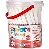 Carioca Bravo - Penna stilografica (Extra Bold, Punta Ogna, Rotondo, Multi, Italia, Plastic Jar)