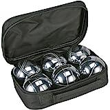 Boccia-set 6x 720 g metalen bollen bouleballen Petanque meetlint tas