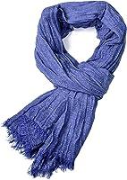 Winter Long Soft Warm Scarf, Mens Solid Color Scarf Tassel Stylish Long Shawl Wrap