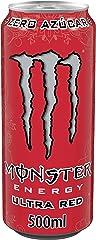 MONSTER ENERGY Ultra Red - Bebida energética sin azúcar - Lata 500 ml