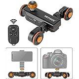 Neewer 3 Ruote Wireless Dolly Automatico per Videocamera, Carrello Elettrico Motorizzato di scorrimento con Telecomando, 3 Ve