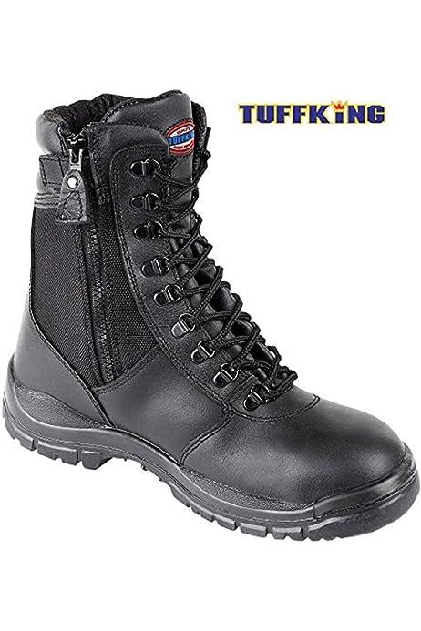 Black Zip Up High Leg Steel Toe Work