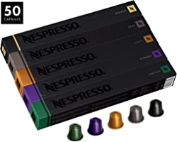 50 Original Nespresso Coffee Capsules (Mixed)