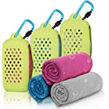 Gearlifee Asciugamano Raffreddamento, istantaneo Freddo Ghiaccio Asciugamano, Sportivo Asciugatura Rapida Gym Sciarpa Towel p
