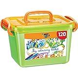 BIC Kids Colouring Box, 60 Matite Colorate e 60 Pennarelli, Scatola Facile da Trasportare, Ottime per Colorare, per Bambini a