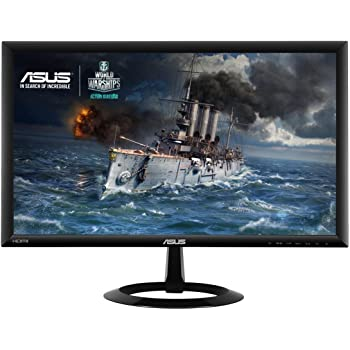Asus VX228H Gaming Monitor, 21.5'' FHD da 1920x1080, 1 ms, HDMI, D-Sub, Low Blue Light, Flicker Free