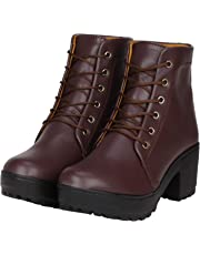 TOSHINA SHOES KING Women's Synthetic Ankle Length Boots
