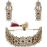 Zaveri Pearls Jewellery Set for Women (Golden) (ZPFK9102)