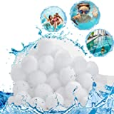 SunAurora Boules de Filtre de Piscine 700g,Média Filtre à Fibres Remplacer 25kg Sable Filtrant,Balles Filtrantes Réutilisable