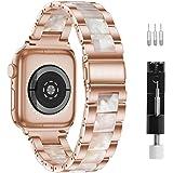 GraceTeng Klockband, kompatibel med Apple Watch Strap 38–40 mm / 42–44 mm serie 6/5/4/3/2/1, Apple Harts-klockband, rostfritt