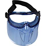 KleenGuard™ V90 Shield Safety Goggles with Face Shield (18629), Anti-Fog, Scratch-Resistant and Clear Lens with Blue Frame fr
